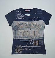 Красивая футболка для девочки 6-13 лет