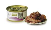 Брит Кер с тунцом и лососем, 80гр, консервы для кошек, суперпремиум