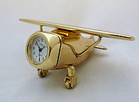 Часы NEW DAY в виде самолета - золотистые