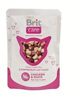 Брит Кер Кет пауч с курицей и уткой 80гр, консервы для кошек, суперпремиум