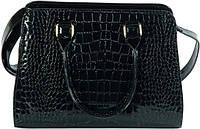 Замечательная лакированная женская сумка с тиснением из искусственной кожи Traum 7225-16 черный
