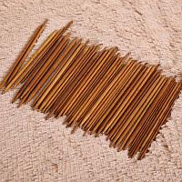 Спицы бамбуковые двусторонние 13 см х 5 шт каждого размера набор 11 размеров