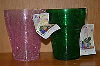 Кашпо для орхидей с эффектом битого стекла