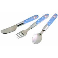 Набор металлический ложка+вилка+нож