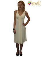 Платье для беременных и кормящих «Лето» (молочное)