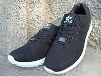 Кроссовки мужские Adidas ZX Flux черные (размеры 41-46)