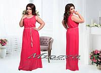 Длинное шифоновое платье размеры Л(46-48) ХЛ(50-52) ХХЛ (52-54)