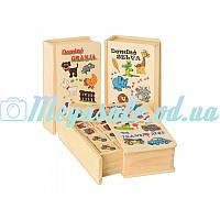 """Деревянная развивающая игрушка """"Детское домино"""": 28 карточек, 3 вида"""