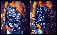 Женская стильная шифоновая блуза