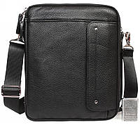Небольшая мужская кожаная сумочка на плечевом ремне 23x25x7,6см.