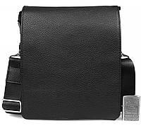 Классическая мужская сумка мессенджер из матовой телячьей кожи 20,5x23x9см.