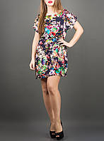 "Летнее платье из штапеля ""Луана цветы"" до 52 размера"