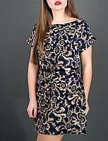 "Летнее платье из штапеля ""Луана узор"" до 52 размера"