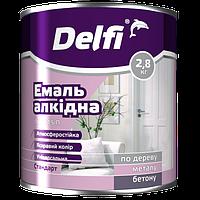 Эмаль Delfi ПФ 115П белая глянцевая 2.8кг Полисан