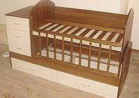 Детская кроватка трансформер от 0 до 12 лет Надія-3
