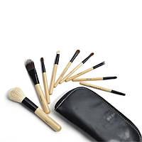 Набор кистей для макияжа 9 штук натуральный ворс