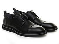 Черные кожаные туфли со шнуровкой
