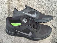 Кроссовки мужские Nike Free Run 3 черные (размеры 41-44)