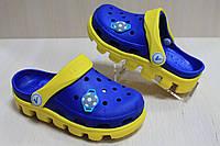 Детские двухцветные кроксы, детская летняя обувь тм Виталия Crocs р. 20-21,29-30