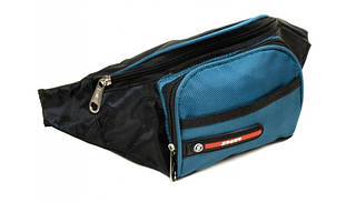 Удобная спортивная сумка на пояс F01 blue