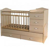Детская кровать трансформер для детей от 0 до 12 лет модель 07