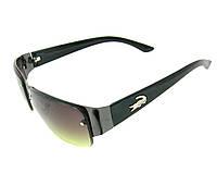 """Безоправные солнцезащитные очки """"Lacoste style"""" унисекс черная оправа и градиентные оливковые стёкла"""