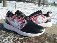 Кроссовки женские Nike Roshe Run flower print  (размеры 36-40)