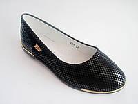 Детские / подростковые туфли-лодочки для девочки, стелька кожаная с супинатором, р. 33-38