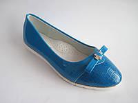 Детские / подростковые лаковые туфли-лодочки для девочки, стелька кожаная с супинатором, р. 32-37