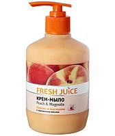 Fresh Juice жидкое крем мыло с дозатором Персик Магнолия 460 мл