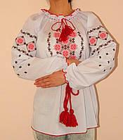 Оригинальная женская вышитая блуза  батал и норма
