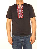 Мужская вышитая футболка в расцветках