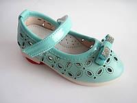 Модные детские летние туфли для девочки с перфорацией, 21-25