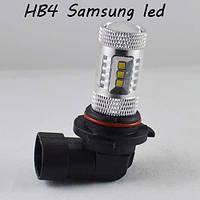 Автомобильная светодиодная лампа SL LED с цоколем HB4(9006) в противотуманные фонари 15W + Линза, 6000K