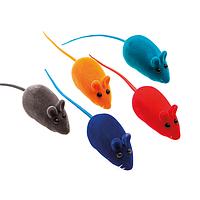 Мышка с писком 6 см - игрушка для котят, кошек и  котов