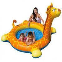 Детский надувной бассейн INTEX Жираф с фонтаном 208 х 165 см. 57434