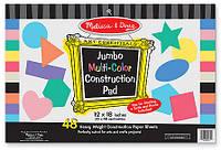 Набор цветного картона Melissa & Doug Jumbo Construction Pad, 48 листов (MD4172)