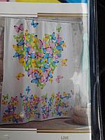 """Штора для ванны """"Миранда"""" (объемная) бабочки, производитель Турция"""