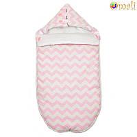 Демисезонный конверт-одеяло на выписку «Малыш» (Розовый зигзаг), Omali