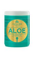 """Kallos Aloe маска для волос для увлажнения и восстановления сухих и поврежденных волос """"Алоэ"""" 1 л Венгрия"""