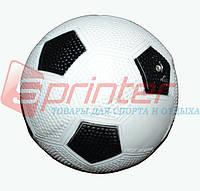 Мячик игровой бело-черный d-12