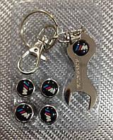 Колпачки на ниппель в блистере (4 шт.+ ключ) BMW-M метал