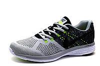 Кроссовки мужские Nike Lunarlon, текстиль, серо-черные, р. 40 42 46, фото 1