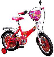 """Велосипед детский Винкс 2-х колесный 16"""" (для детей 4-6 лет) с боковыми вспомогательными колесами"""