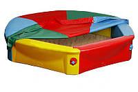 Детская песочница пластиковая 6-угольная 140см