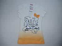 Красивая футболка- туника для девочки 6-12 лет