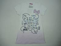 Красивая футболка  для девочки 6-12 лет
