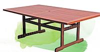 Надежная садовая деревянная мебель: стол 200х114х75 см, древесина мербау