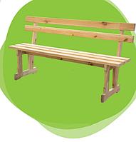 Бюджетная уличная деревянная мебель — лавка, без покрытия, древесина сосны, 170х30х80 см