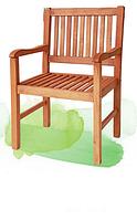 Оригинальная деревянная мебель для сада: кресло из бука, 91х58х48 см